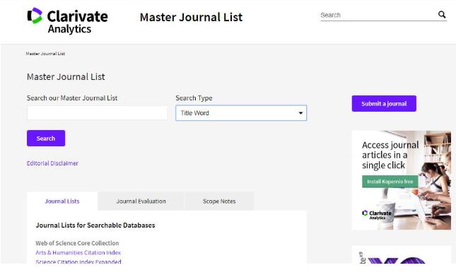 آموزش بررسی نمایه شدن مجله در پایگاه داده ISI، اسکوپوس و یا scimage